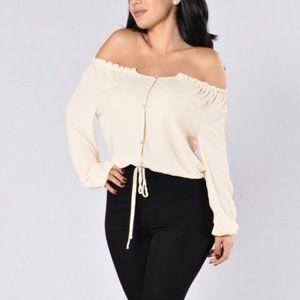 Fashion Nova Off the Shoulder Peasant Top
